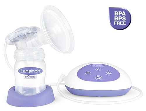 Lansinoh's Single Electric Breast Pump is BPA and BPS free