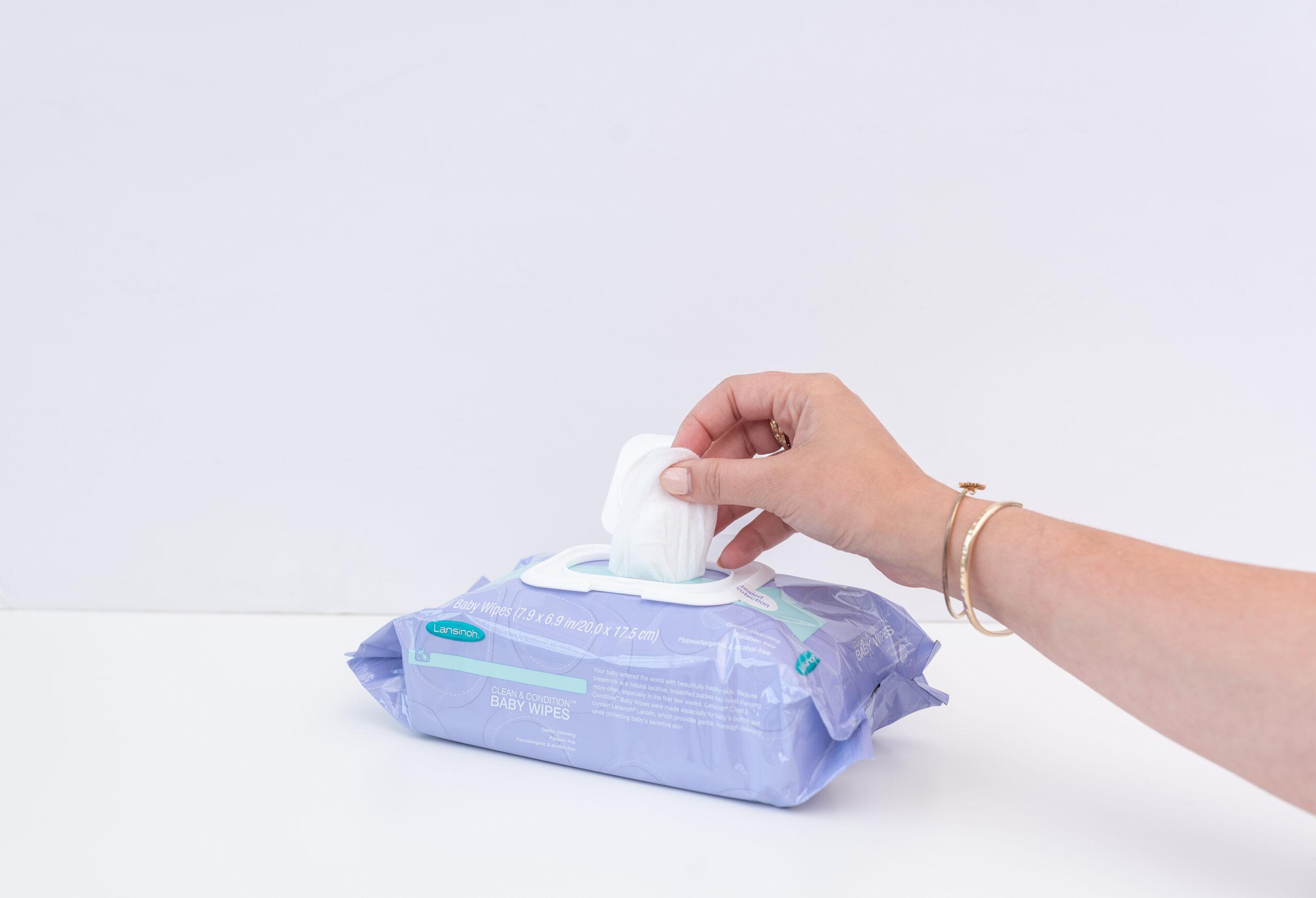 Lansinoh Detské lanolínové utierky na čistenie a starostlivosť