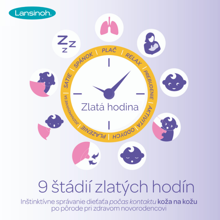 9 štádií zlatých hodín- prvá hodina života dieťaťa